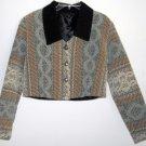 Dion of Texas Misses Vintage Short Jacket Bolero Size M Medium