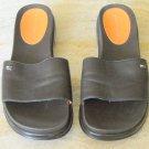 Tommy Hilfiger Brown Sandals Slides Size 8 M