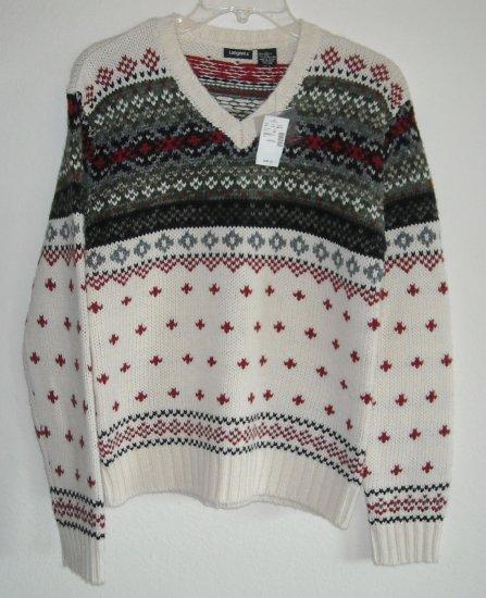 Tangents Fair Isle Knit Misses Womens Sweater Size L NWT