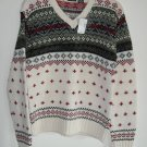 Tangents Fair Isle Knit Misses Womens Sweater Size L NWT