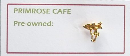 Gold tone ANGEL tie tac pin