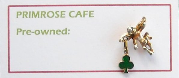 Vintage Irish Luck Shamrock Angel tie tac pin