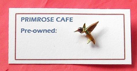 Ballou Hummingbird colorful gold tone tie tac pin