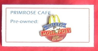 McDonald's Deluxe Monopoly Dr Pepper tie tac pin