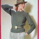 Tahki womens pullover pattern TAL 166 C