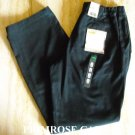 New Cabelas womens casual black flat front chino size 12 NWT