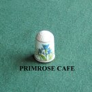 Franklin flowers of Nederland Holland porcelain thimble Iris
