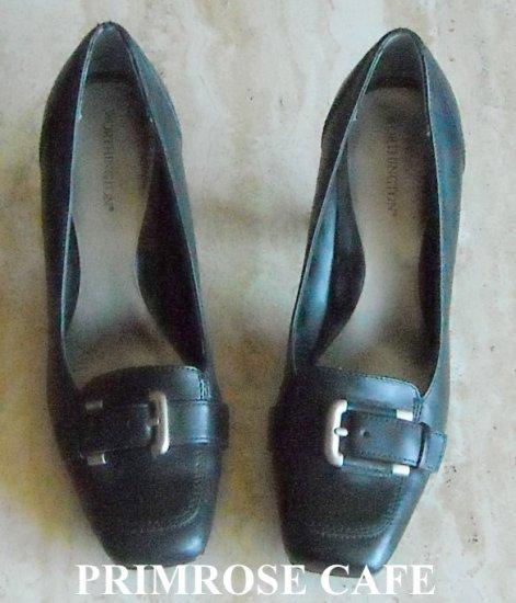 Worthington Women's Black Leather Slip On Shoes Size 9 M