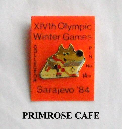 Collectors Olympics XIV 1984 Winter games Sarajevo hockey # 14 tie tac hat lapel pin