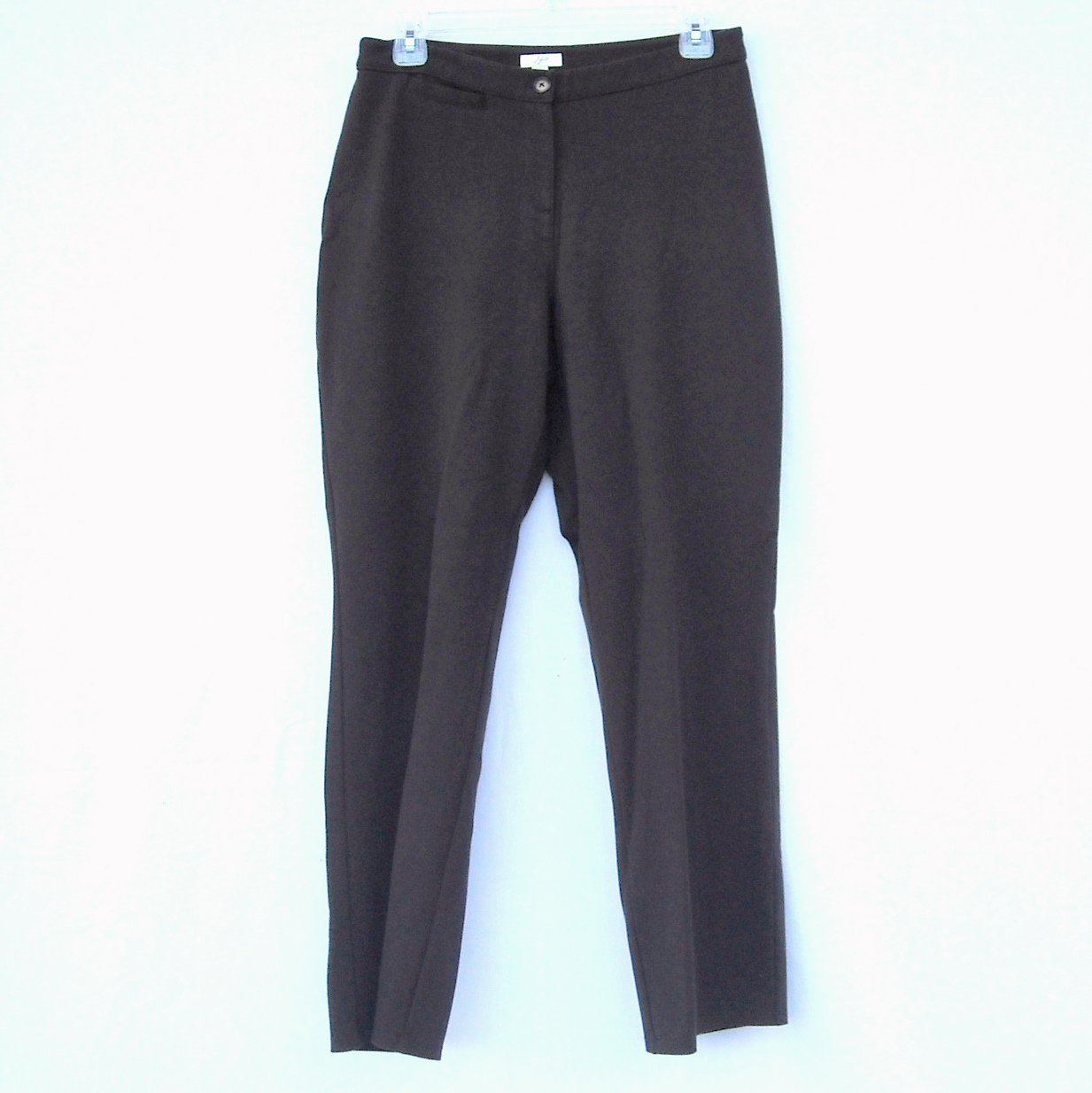 J Jill Stretch womens dark brown pants size 6P