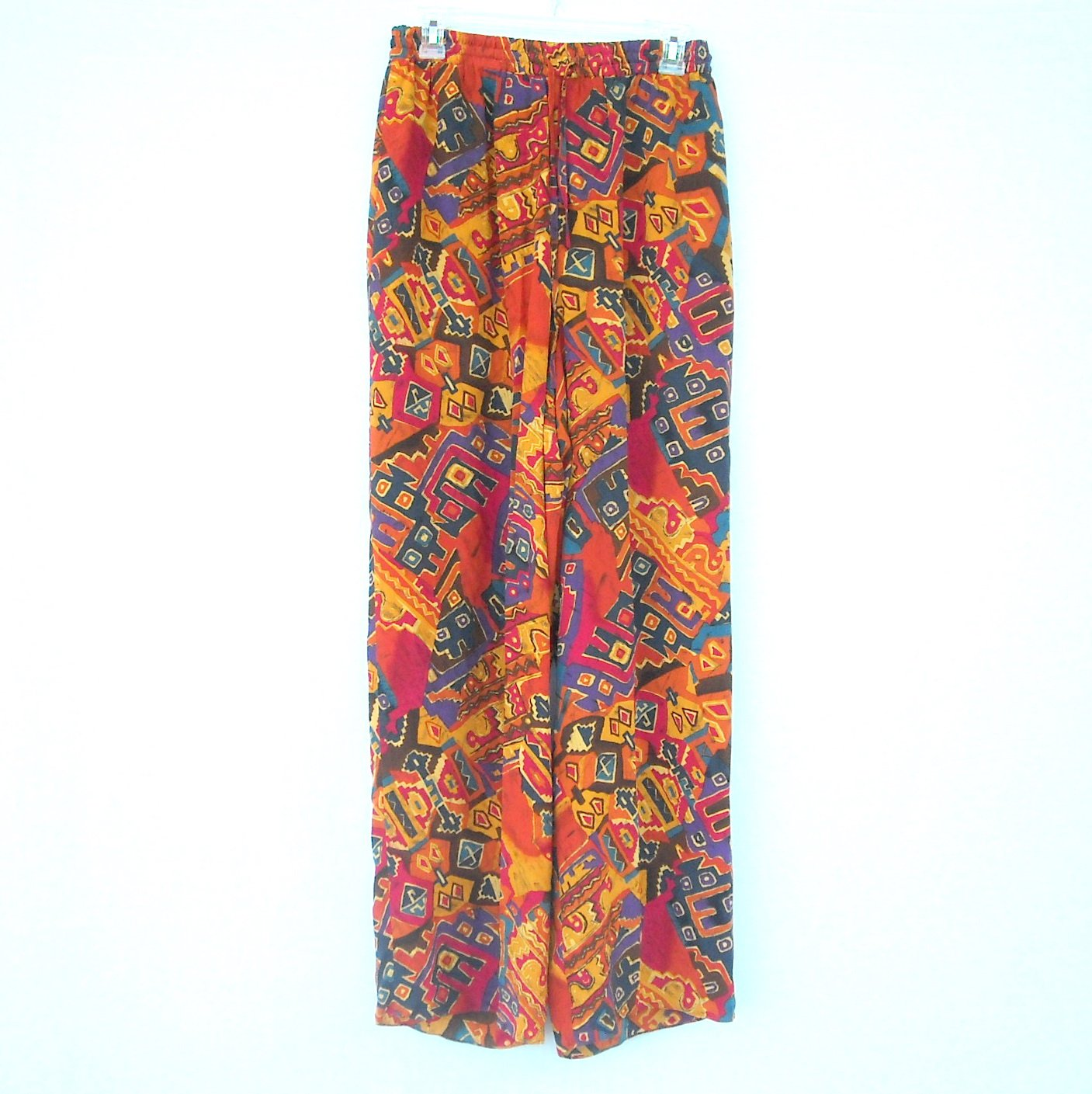 Real Clothes Saks Fifth Avenue womens 100% silk pants size S