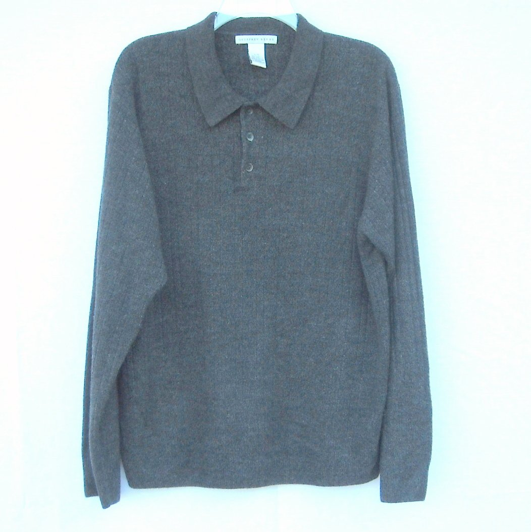 Geoffrey Beene Mens Very Soft Knit Collared Sweater Size L / G