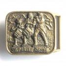 Vintage Spirit Of 76 Bronze Color Belt Buckle