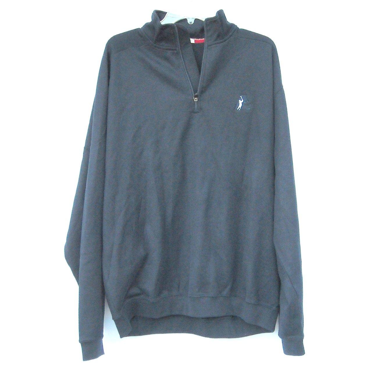 Golf Sportswear Mens Navy Blue Pullover Sweatshirt Fleece Size XL TG