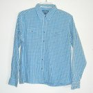 Wrangler Misses Womens Blue Button Front Shirt Size L G