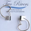 Two Rivers sterling silver pierced earrings