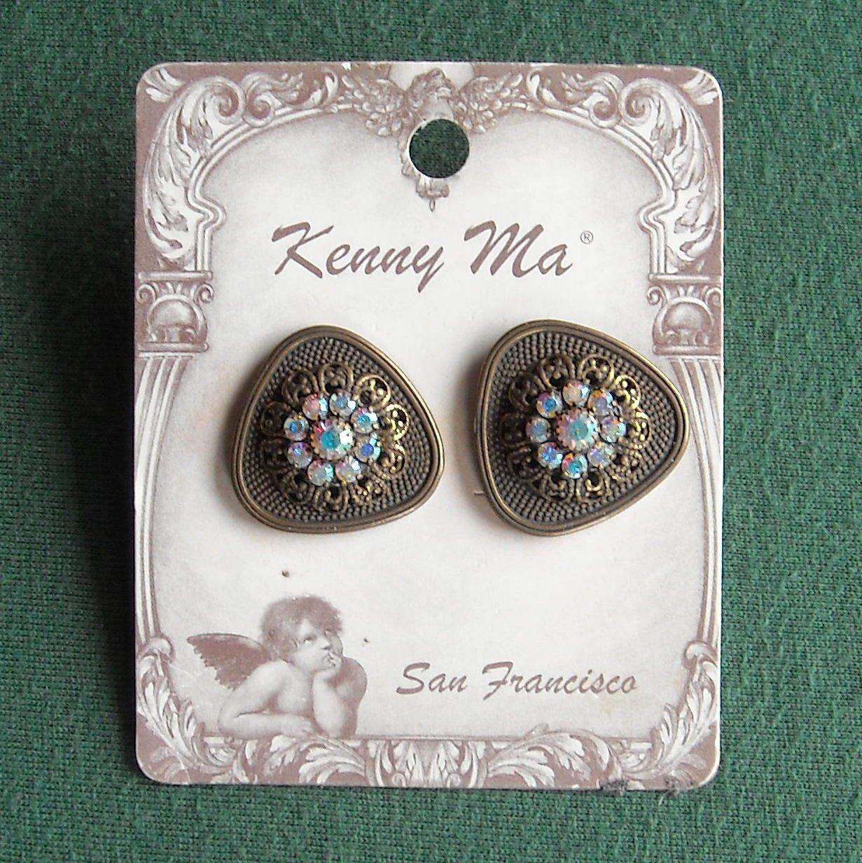 Kenny Ma San Francisco rhinestone pierced earrings