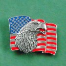 American Flag Eagle Siskiyou Belt Buckle