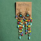 Lucky Brand Gold Tone Hoop And Beaded Earrings NWT