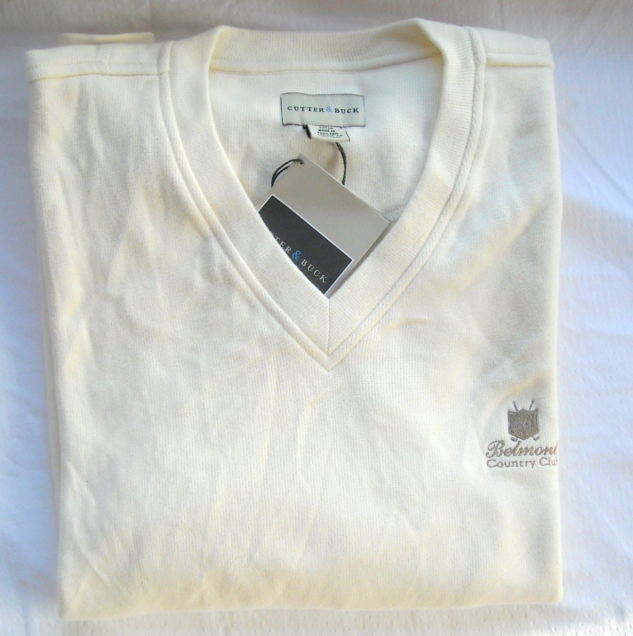 Cutter & Buck mens long sleeve V-neck pullover sweater size L NWT