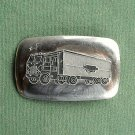 Vintage truck silver colored belt buckle