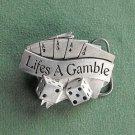 Lifes A Gamble 3D Sculpted Solid Belt Buckle