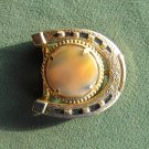 Horseshoe Cowgirl Womens Gold Color Belt Buckle