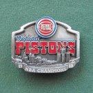 Vintage Detroit Pistons Siskiyou Belt Buckle NBA Champions 1989