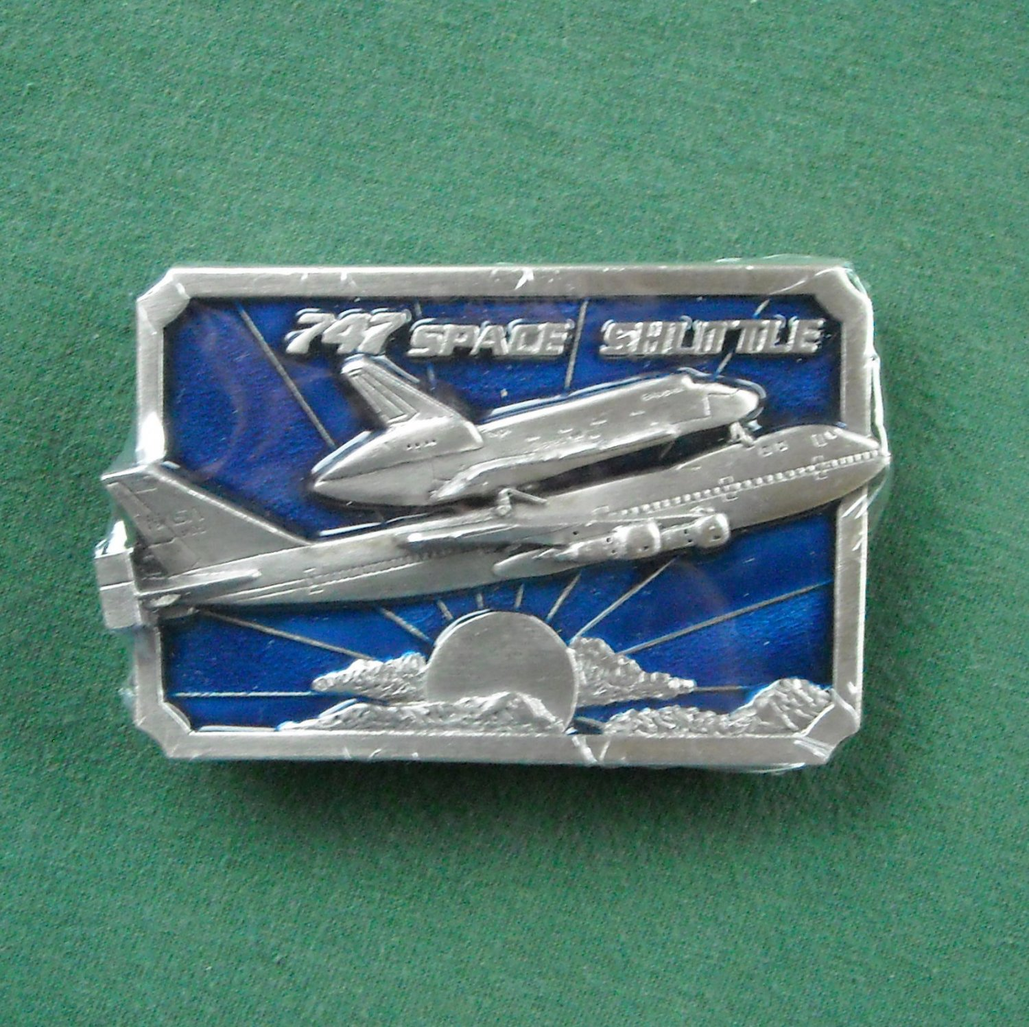 Vintage Siskiyou Boeing with Space Shuttle belt buckle NIB