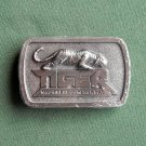 Tiger Machinery Company Pewter Belt Buckle