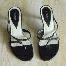 Fioni Womens Black Sandals Slides Shoes Size 5