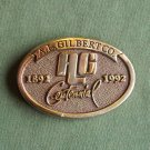 Vintage A L Gilbert solid brass belt buckle