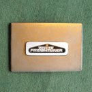 Vintage White Freightliner stainless belt buckle
