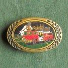 Vintage Heritage solid brass Fire Department belt buckle