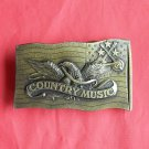 Vintage Country Music Indiana Metal Craft belt buckle
