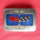 Vintage Chevy Chevrolet silver color belt buckle