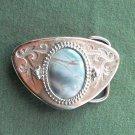 Vintage stone silver color belt buckle