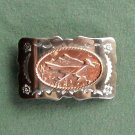 Vintage Roadrunner nickel silver belt buckle