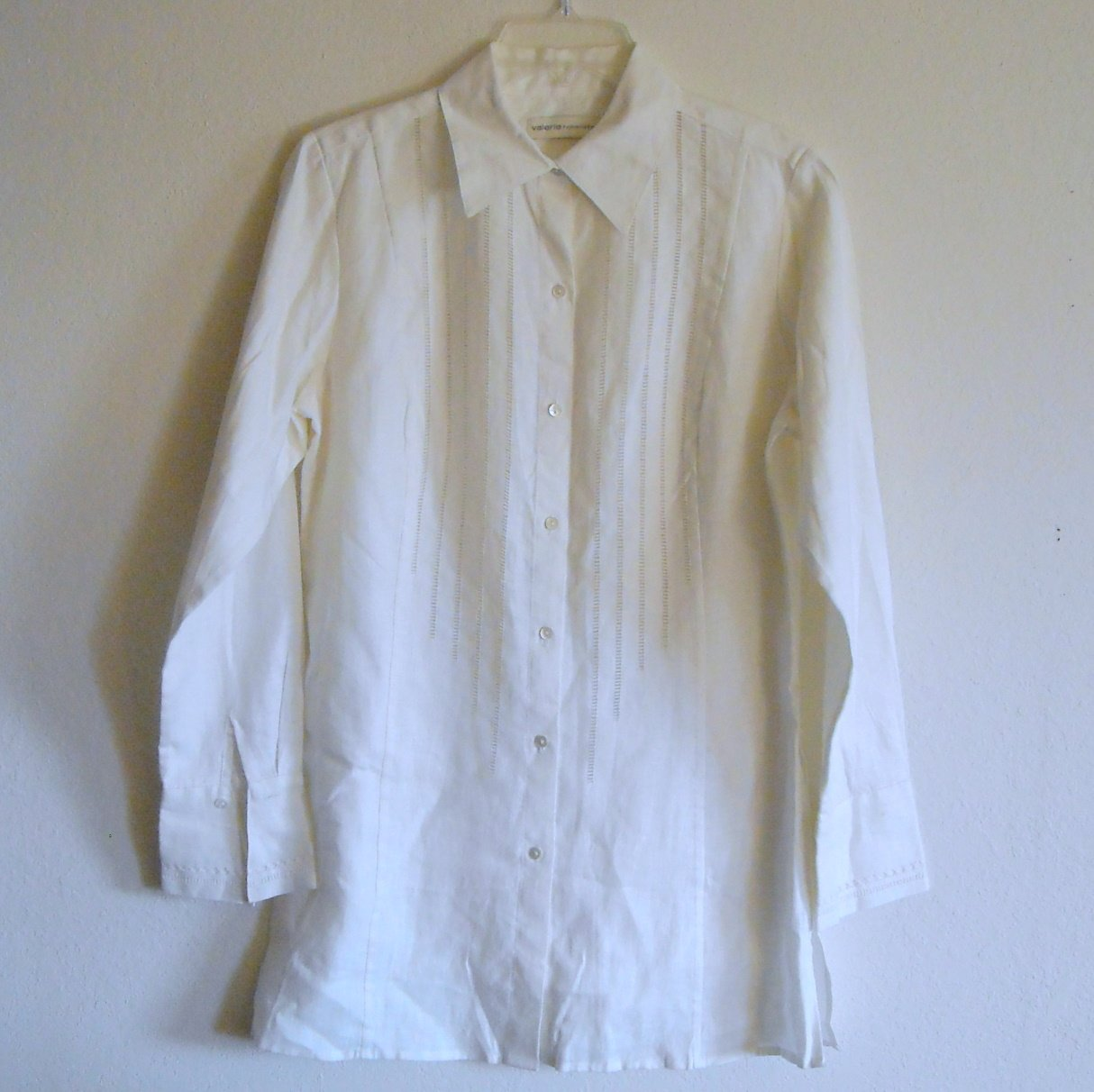 Valerie Seperates Misses Womens Linen Blouse Top Size S
