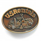 US Rentals Stotts Solid Brass Belt Buckle
