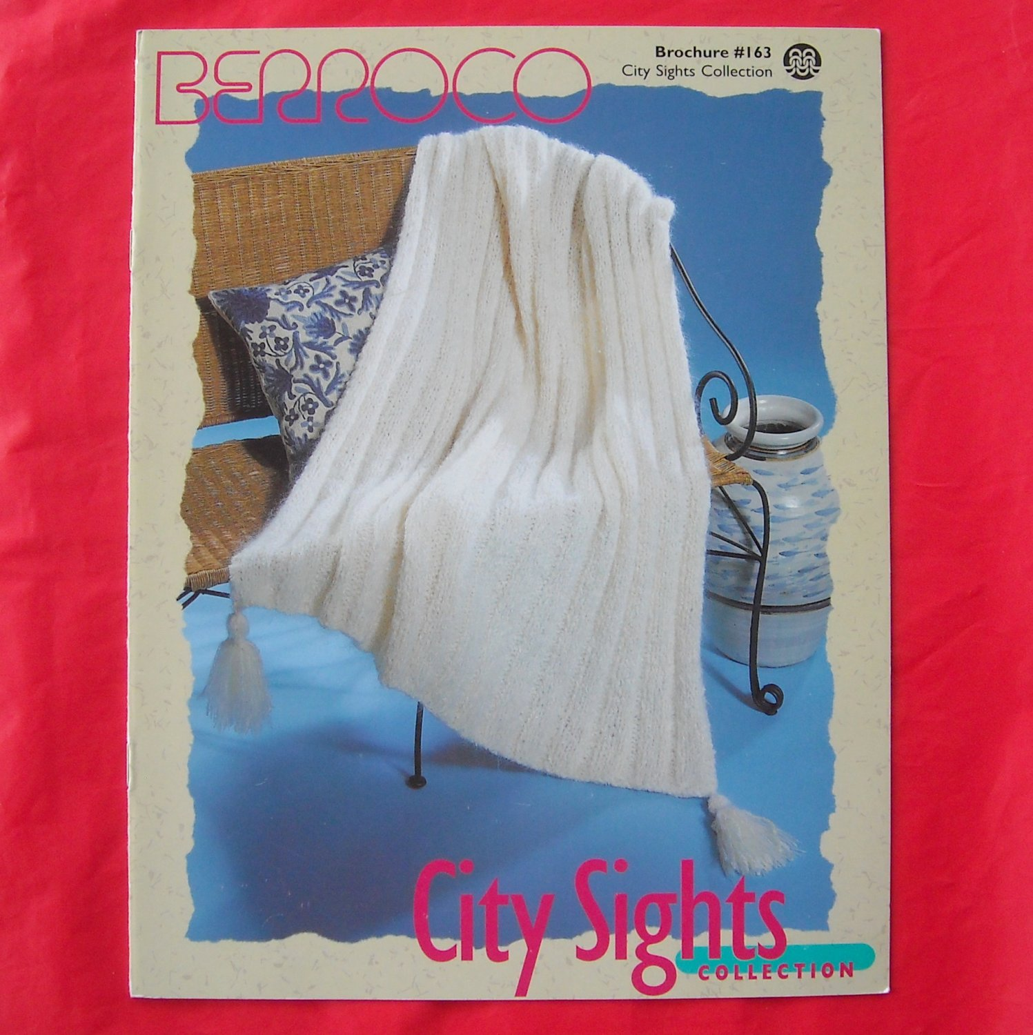 Berroco City Sights Collection 4 Knitted Throw patterns booklet # 163