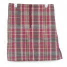 Misses White Stag Striped Cotton Skirt Size 12 14