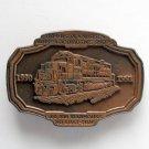 Vintage Locomotive No 2584 Brass metal alloy belt buckle