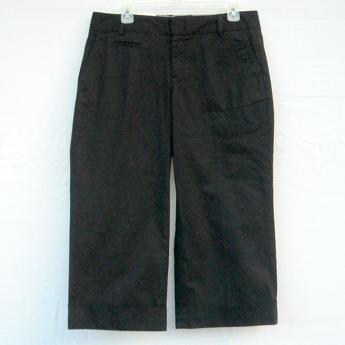Gap Womens Stretch Black Cotton Capris Pants size 10