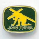 John Three Sixteen Gospel Religious Metal Belt Buckle