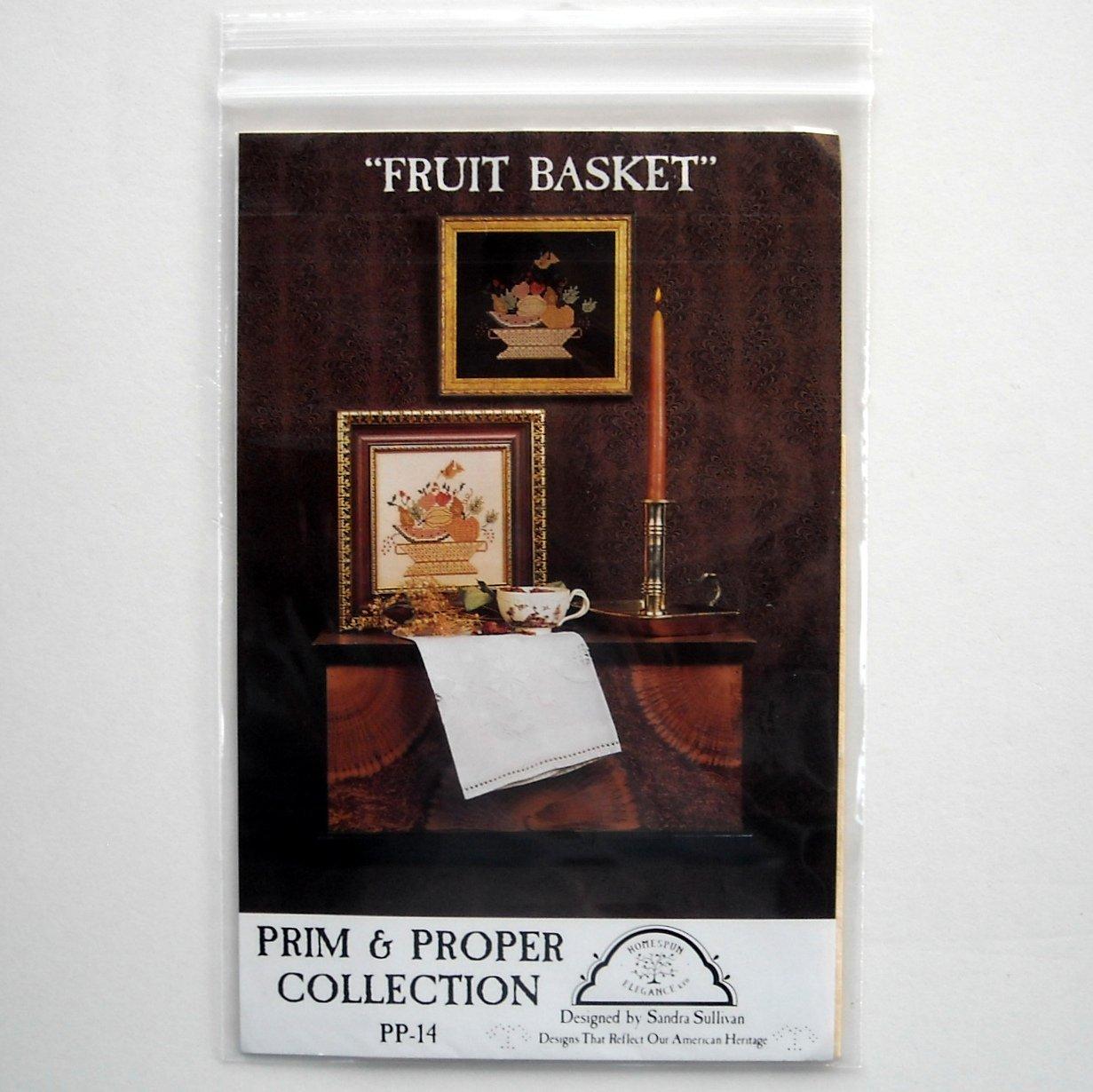 Homespun Elegance Design Fruit Basket Cross Stitch Crafts Pattern # PP-14