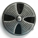 Iron Cross Spinner Silver color metal alloy belt buckle