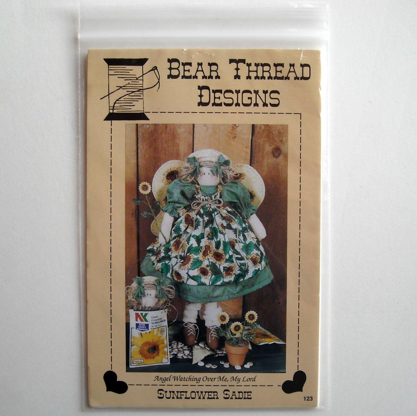 Bear Thread Designs Sunflower Sadie Doll Crafts pattern # 123
