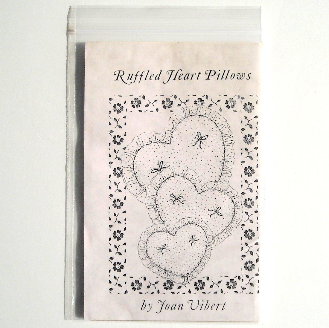 Evening Star Farm Designs Ruffled Heart Pillows Crafts Pattern JV88