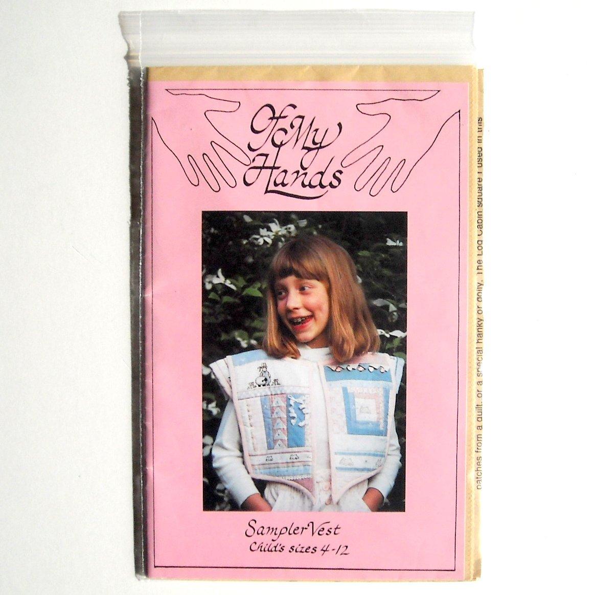 Of My Hands Designs Sampler Vest Crafts Pattern OMH90